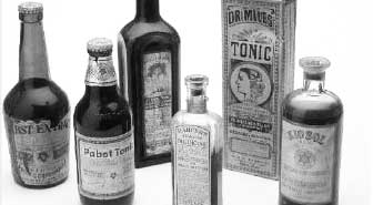 old gin bottles